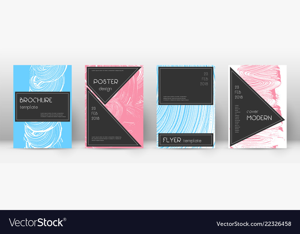 Cover Page Design Template Black Brochure Layout Vector Image