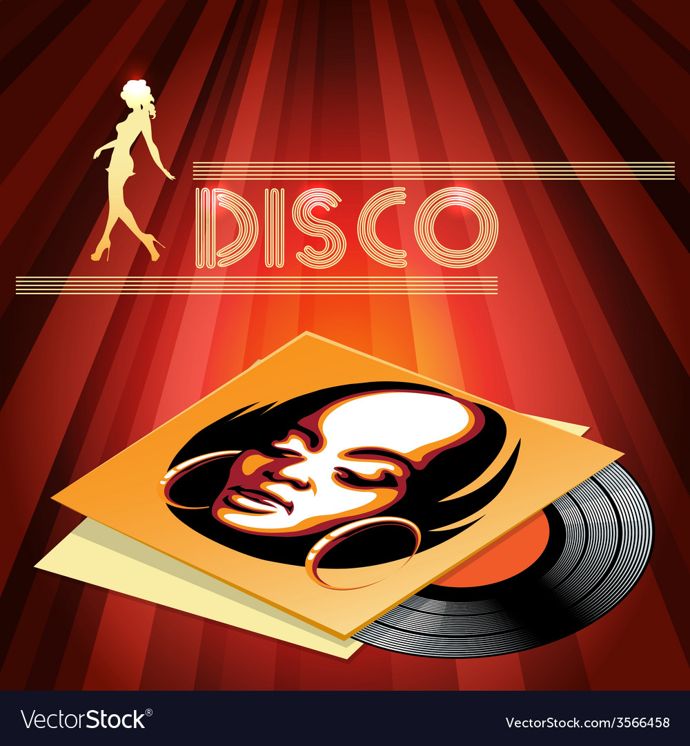 Disco club poster design