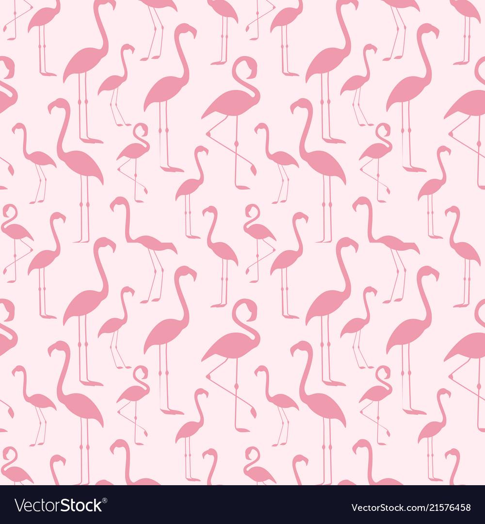 Seamless pattern a pink flamingo