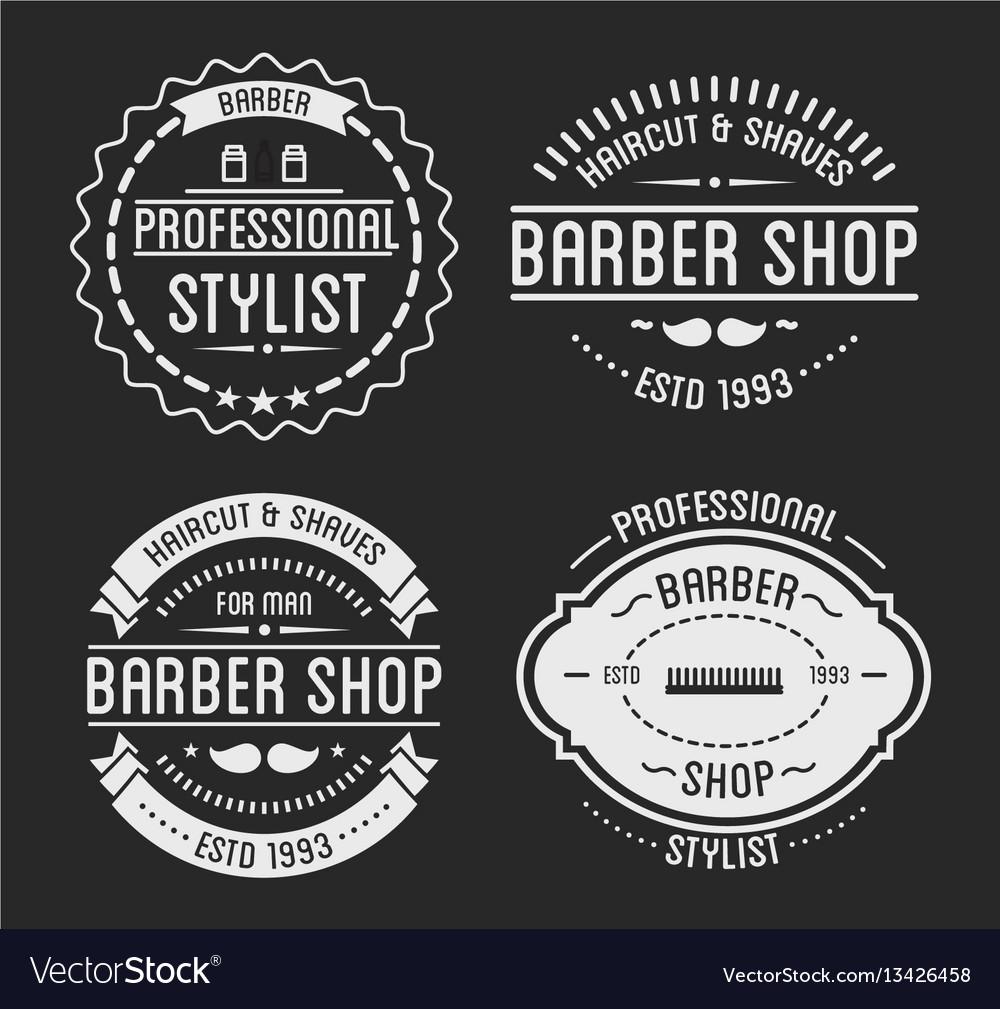 Set of vintage barber shop logo and beauty spa