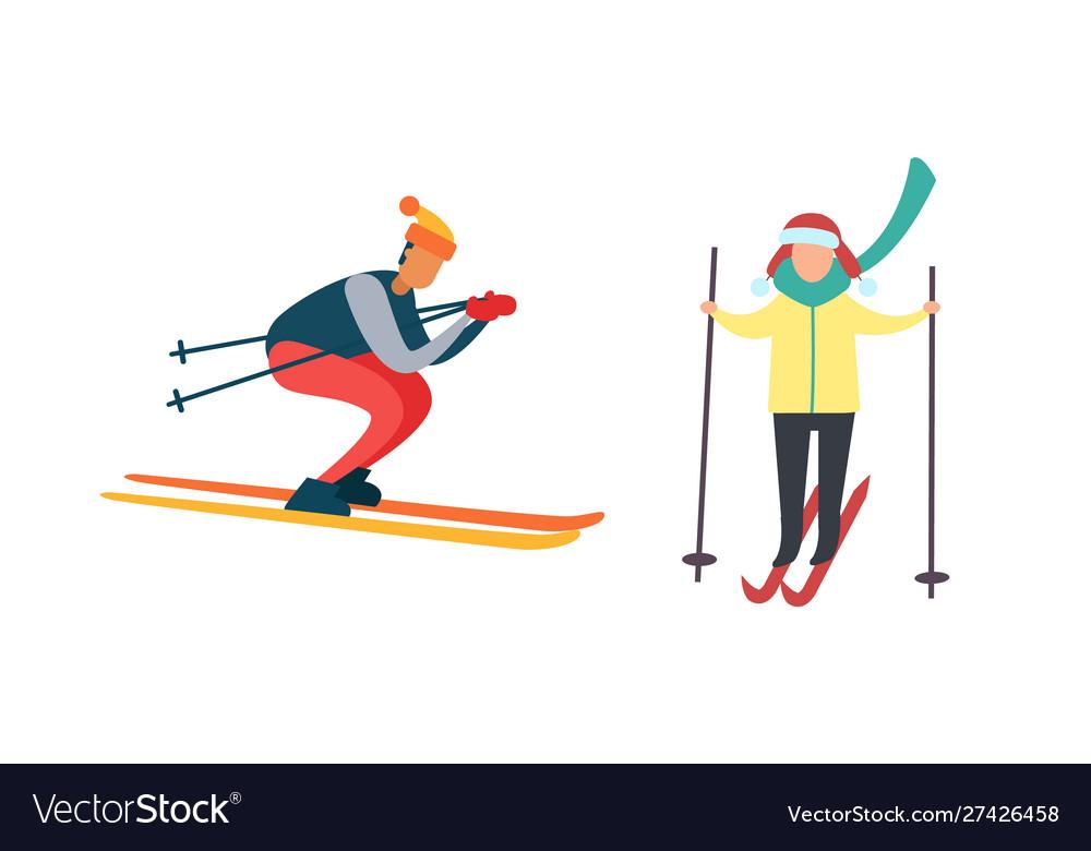Skiing winter activities sport and hob