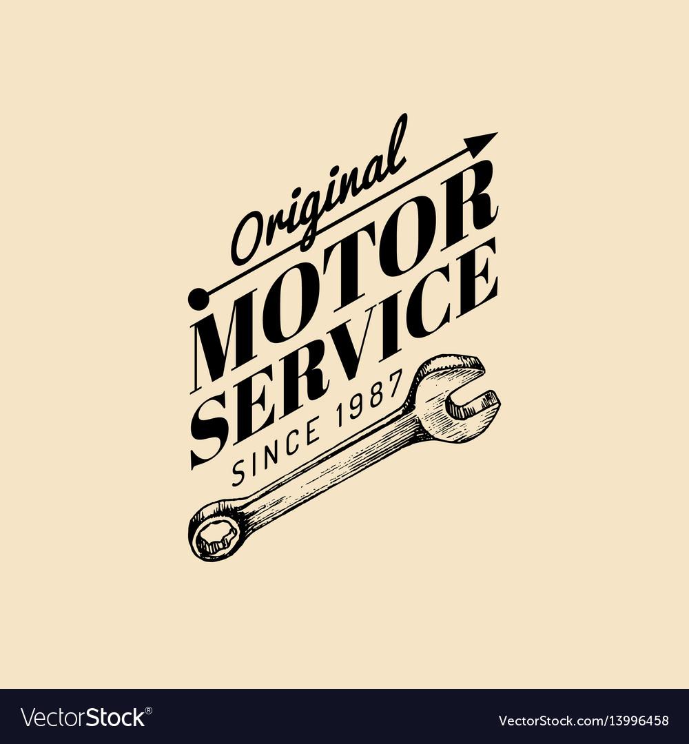 Vintage motorcycle repair logo retro