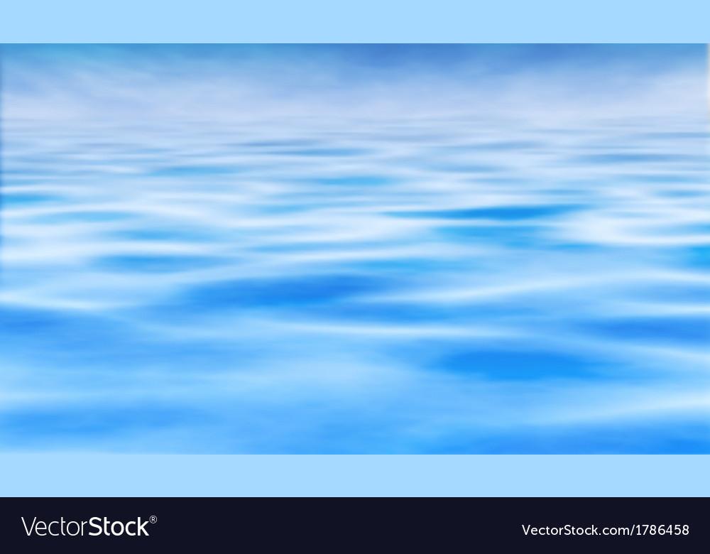 Water horizon vector image