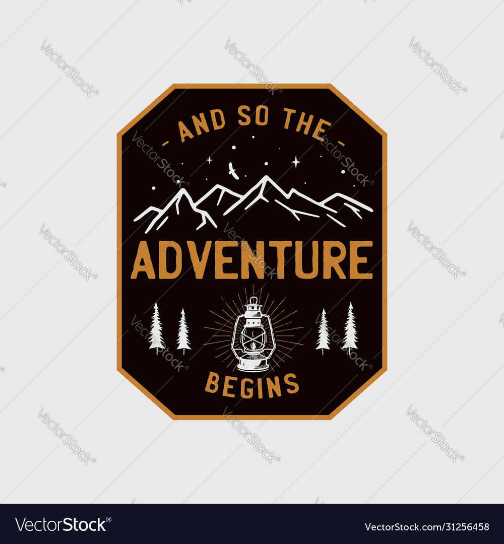 Wilderness adventure logo design print camping