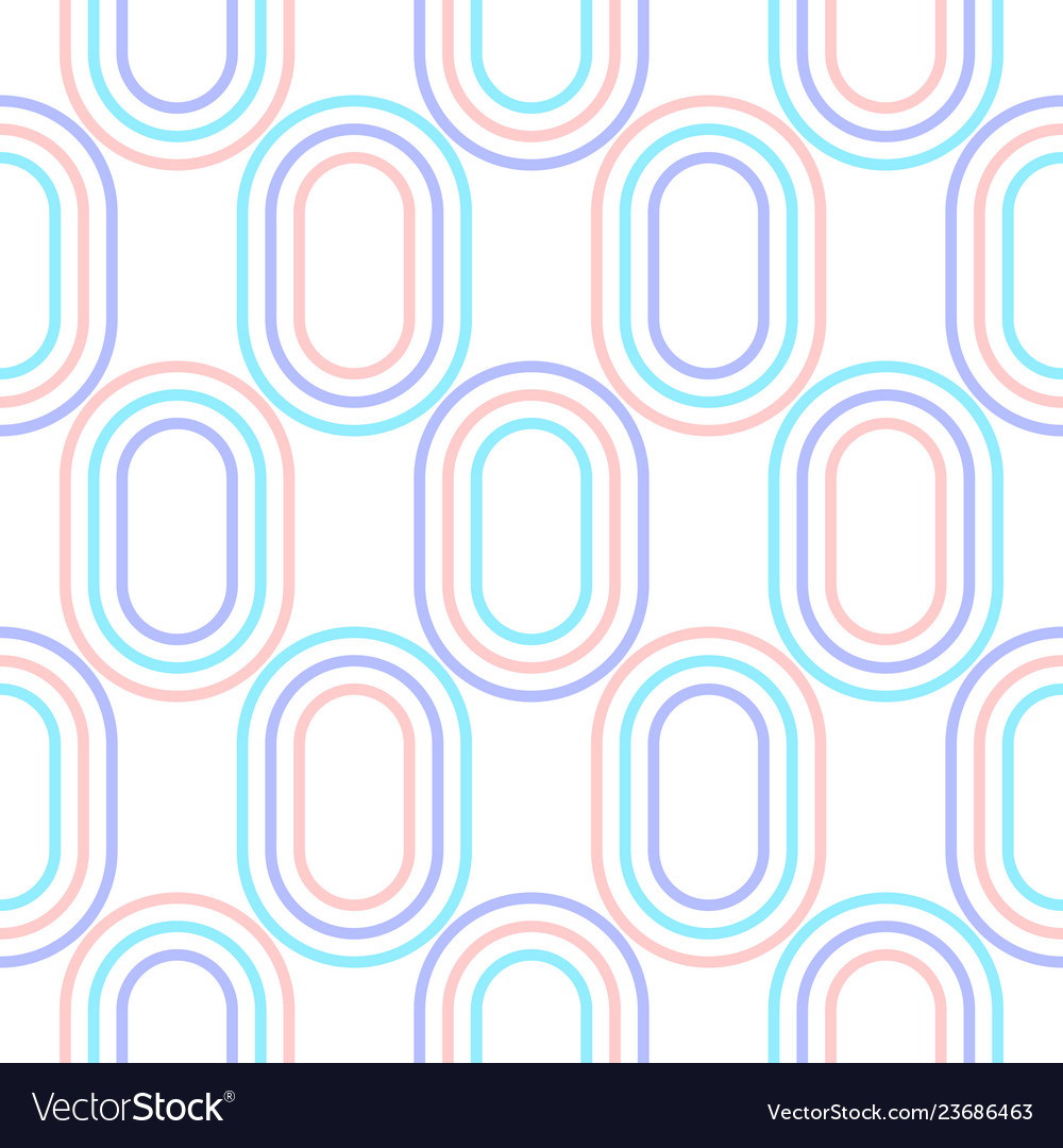 Abstract oval shapes geometric seamless