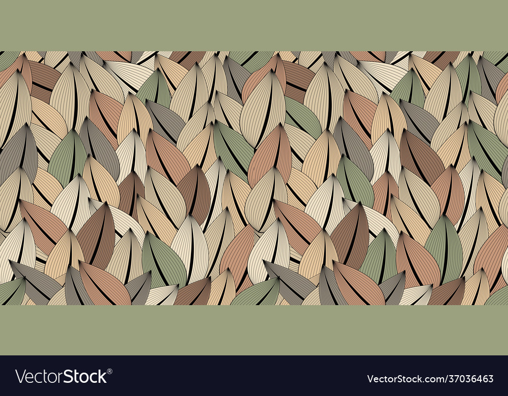 Abstract seamless pattern multicolored leaves