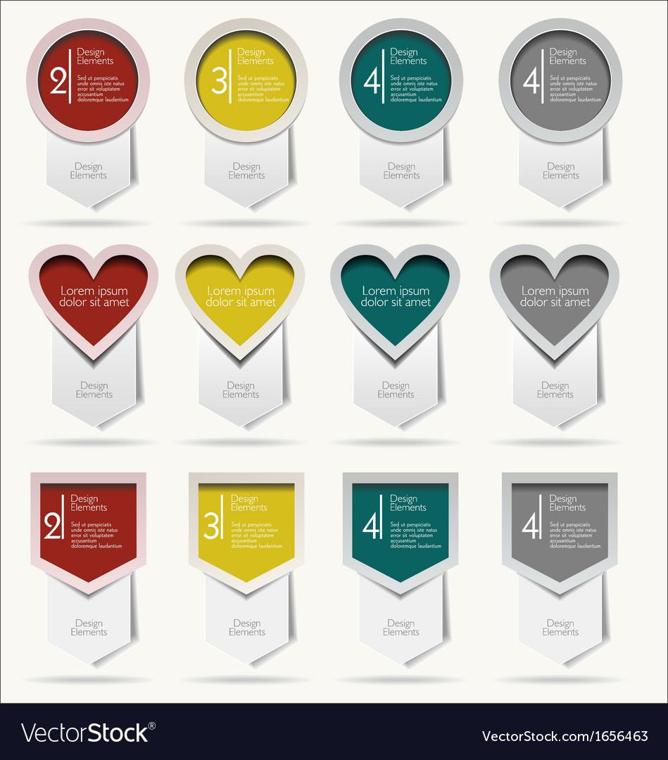 Arrow stickers modern design