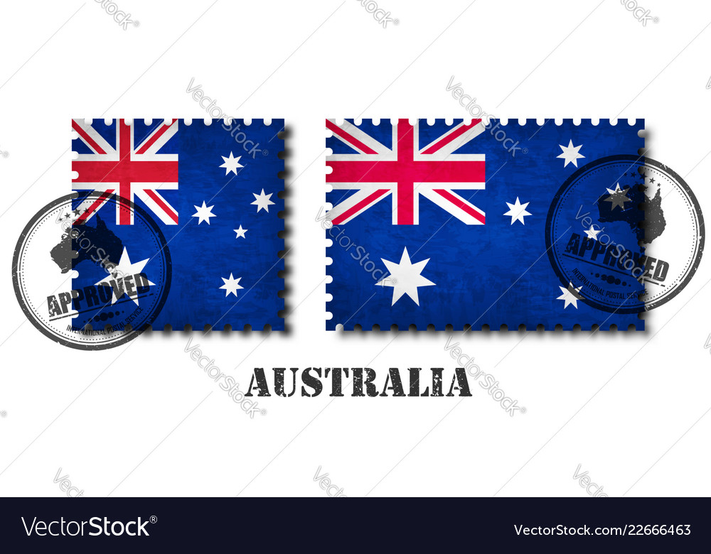 Australia or australian flag pattern postage