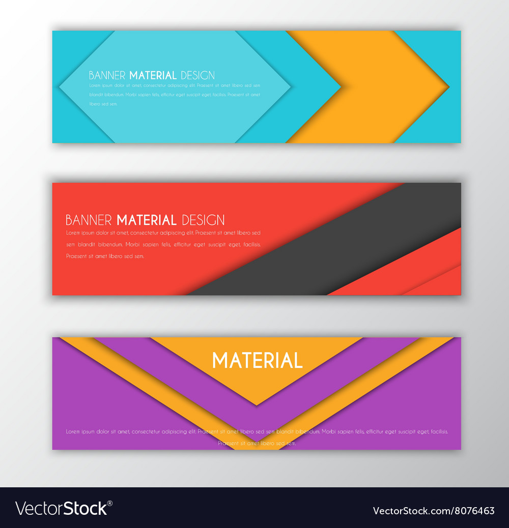 Banner in the style of the material design vector image