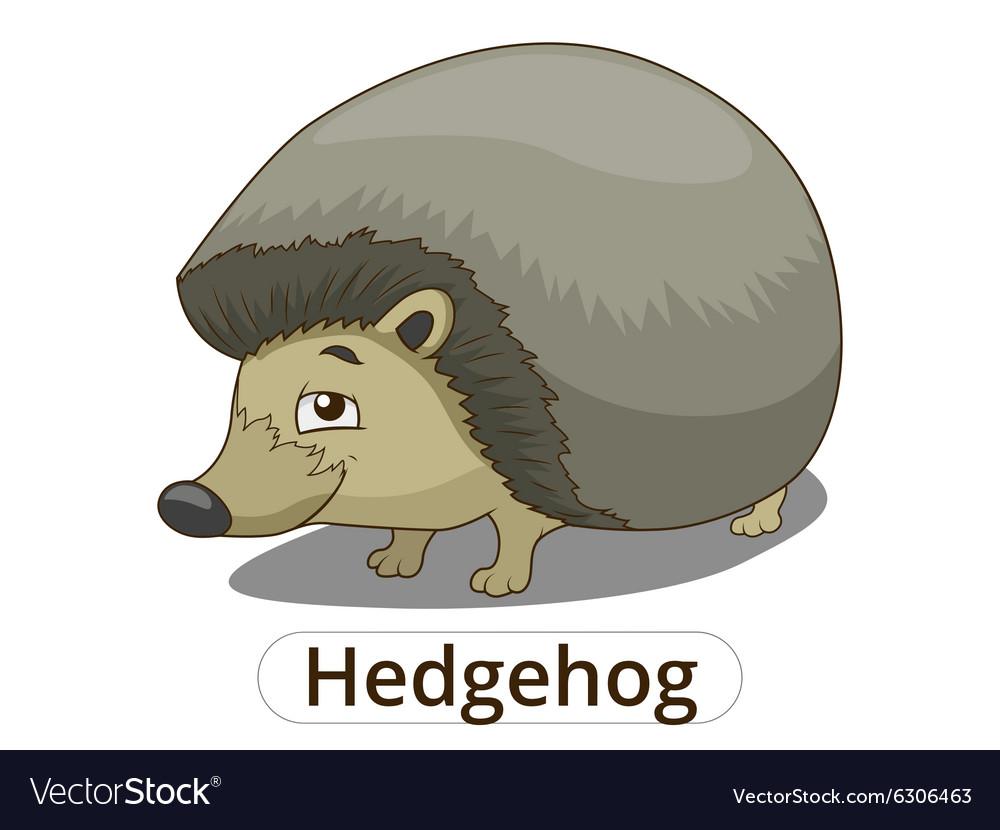 Forest animal hedgehog cartoon vector image
