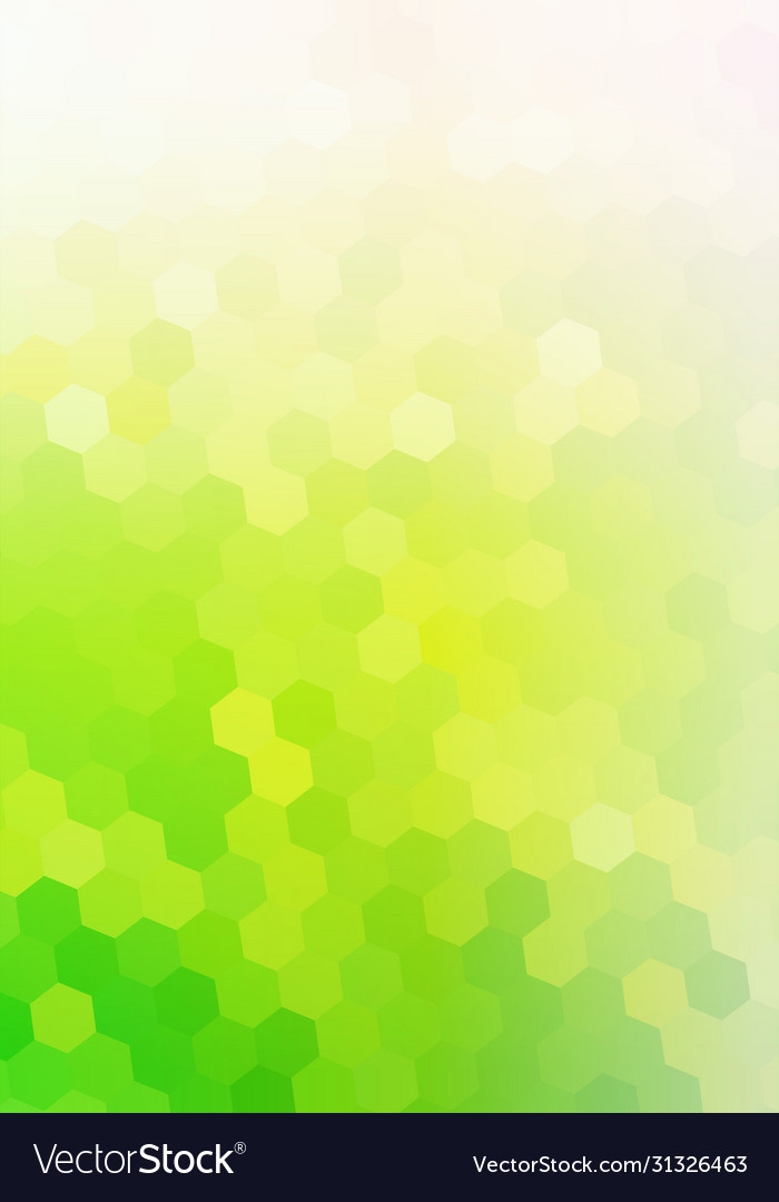 Green eco background with hexagon mosaic