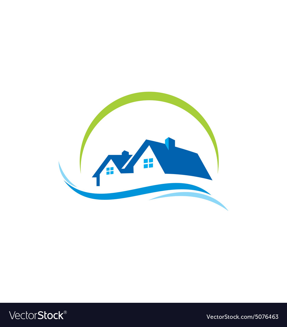 House Water Construction Logo