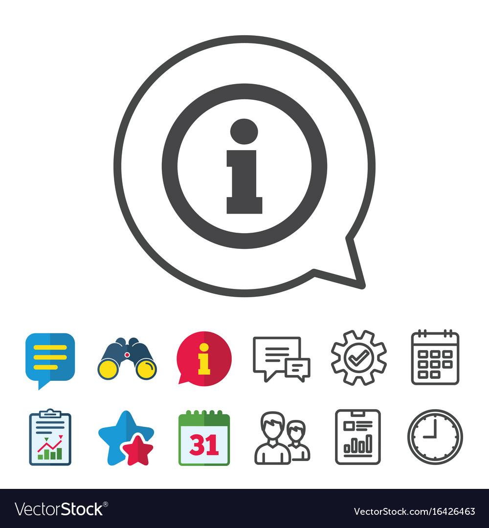 Information sign icon info symbol