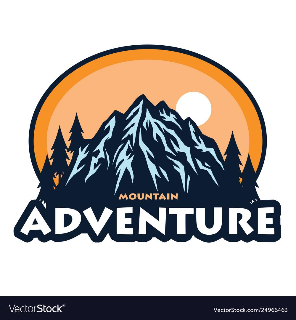 Logo mountain adventure camping climbing