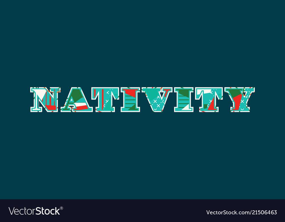Nativity concept word art