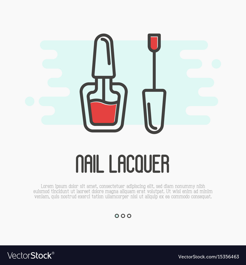 Red nail lacquer icon for logo of manicure salon