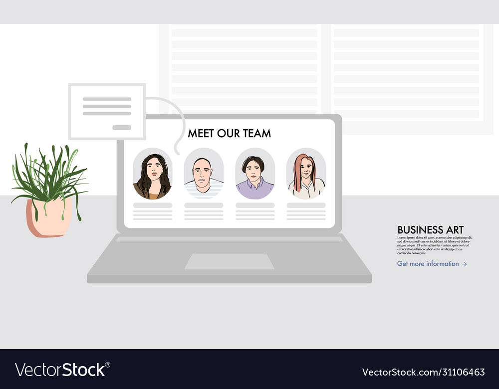 Remote office team members support business