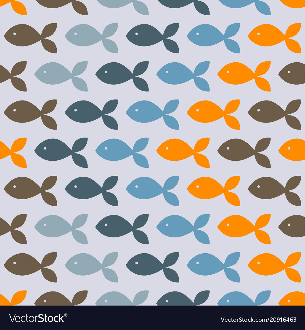 Seamless pattern with colorful fish
