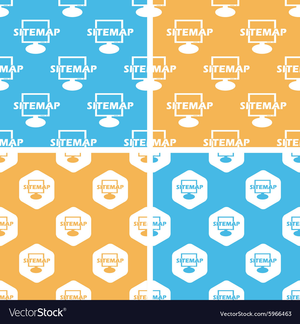 Sitemap pattern set colored