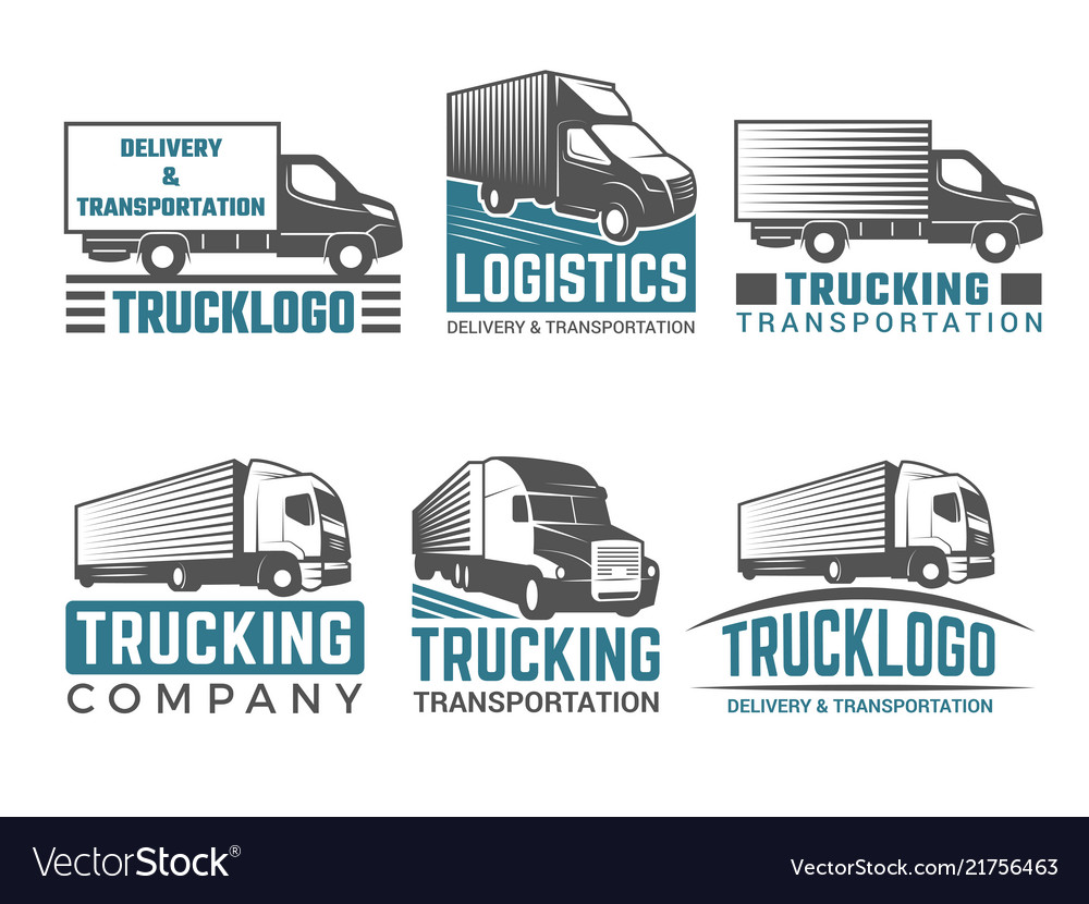 Truck logo business symbols emblems of