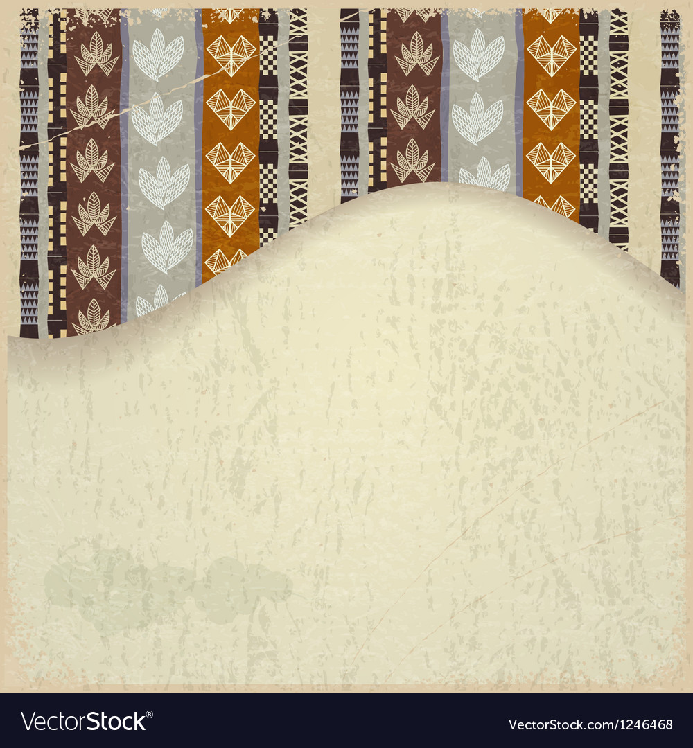 Abstract background with African Tribal elements vector image