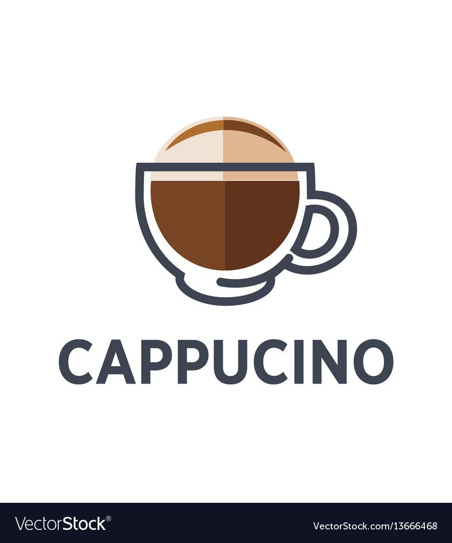 Coffee cappuccino drink cup flat icon for