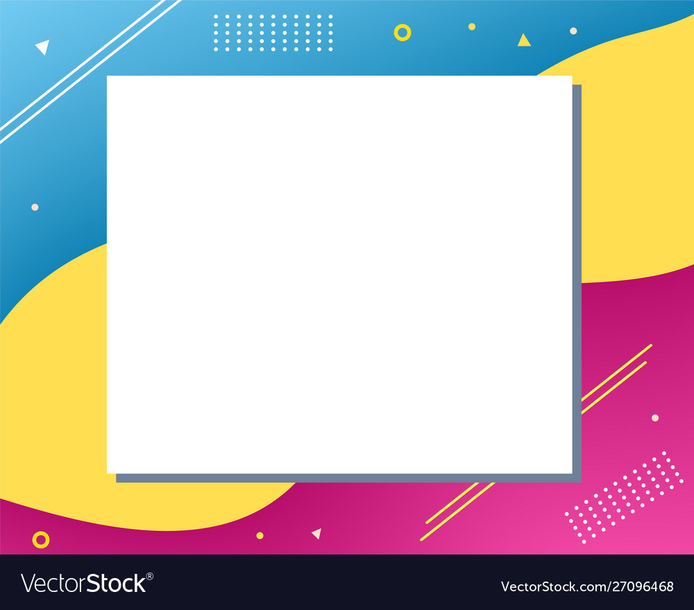 Colorful abstract modern copy space design