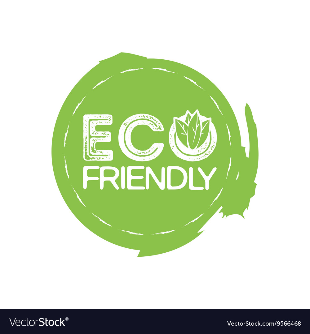 Eco Friendly Stamp Royalty Free Vector