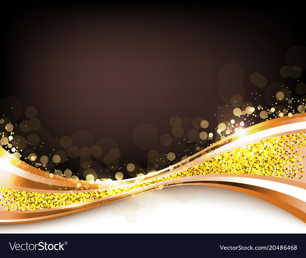 Gold abstract elegant background vector image