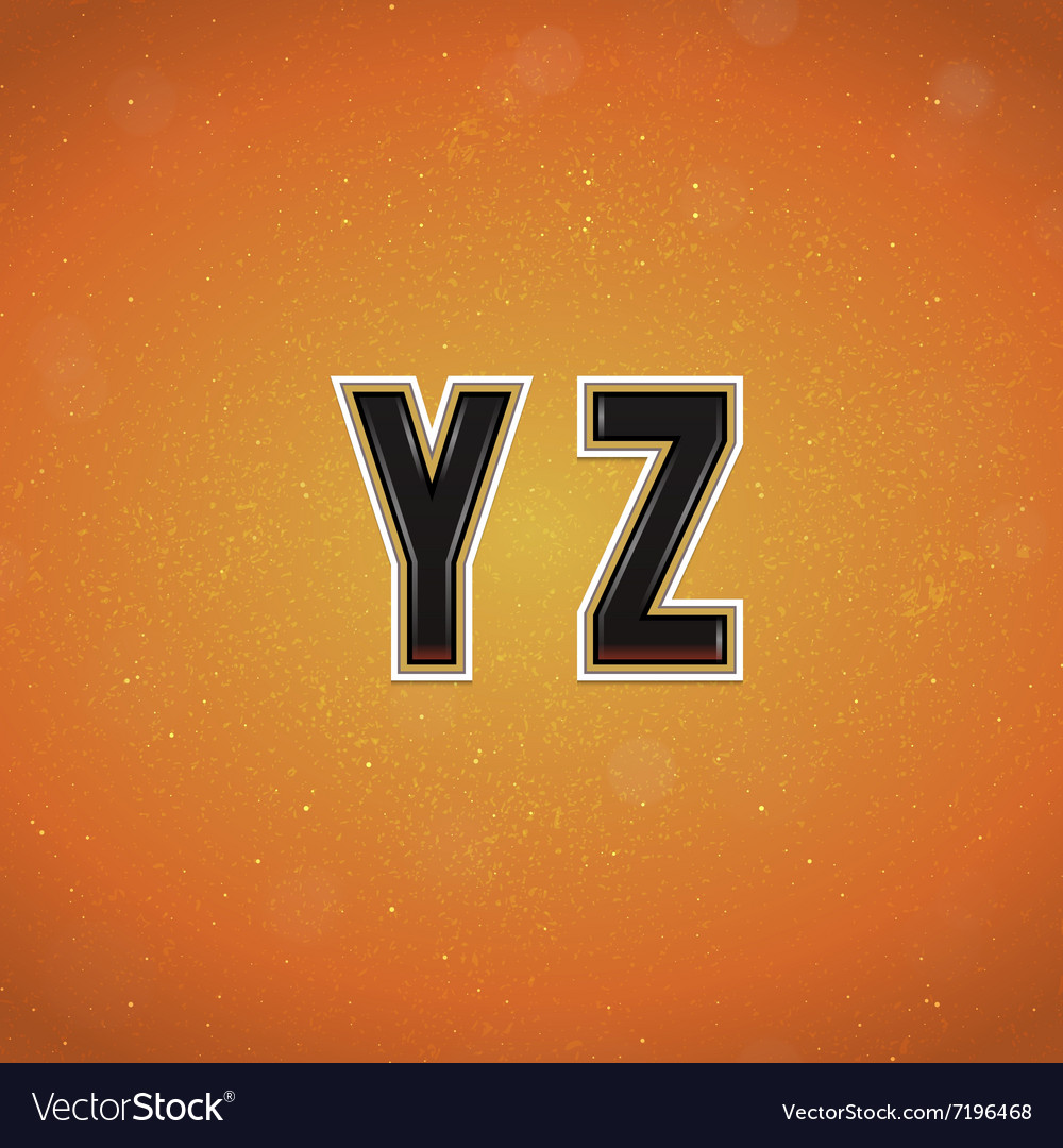Sport Style Font from Y to Z