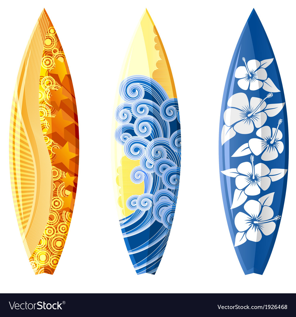 surfboard royalty free vector image vectorstock rh vectorstock com surfboard vector image surfboard vector png