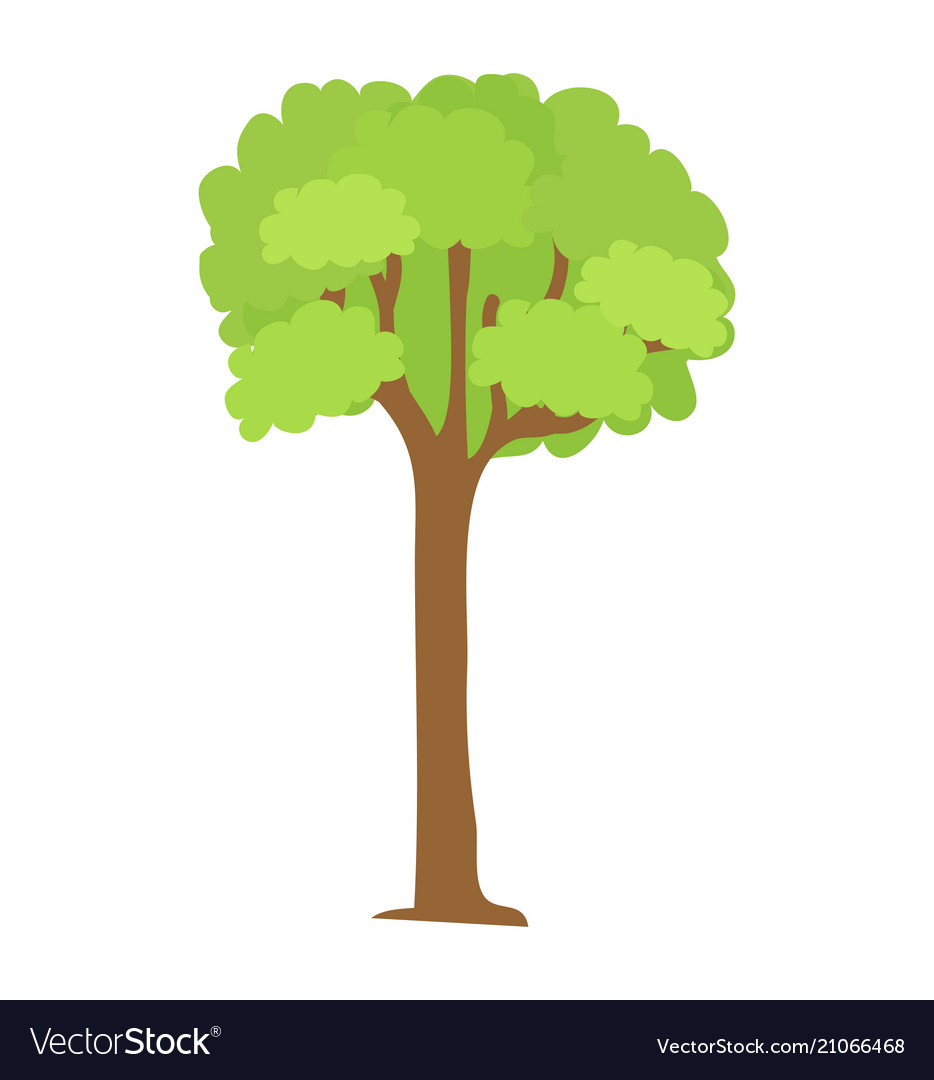Tree icon with green leaves and brown trunk