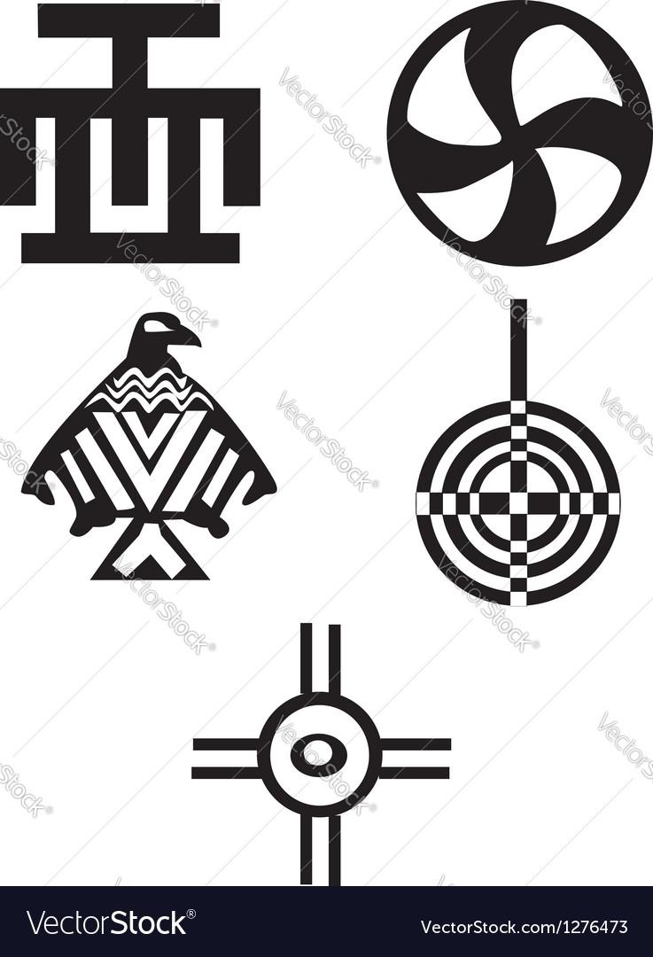 American Indian Symbols Royalty Free Vector Image