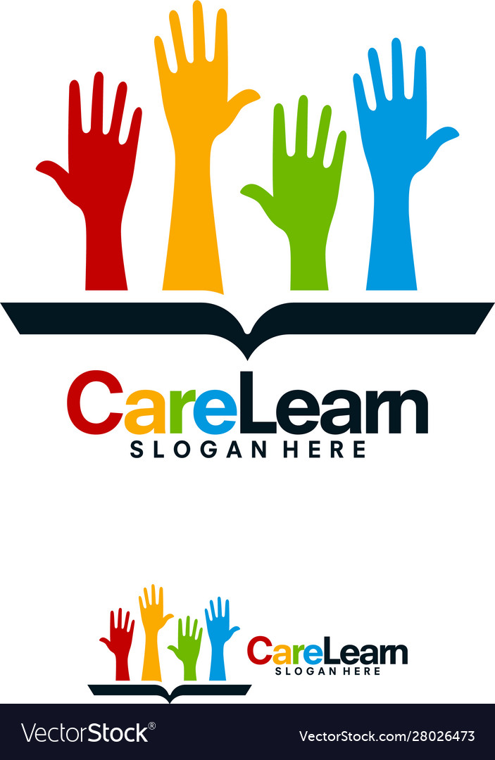 Care education logo designs help learn logo