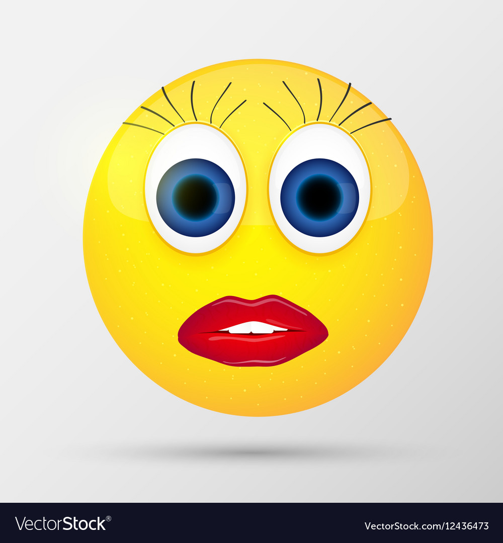 Cute sexual girl emoticon vector image