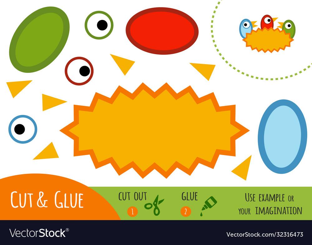 Education paper game for children nest