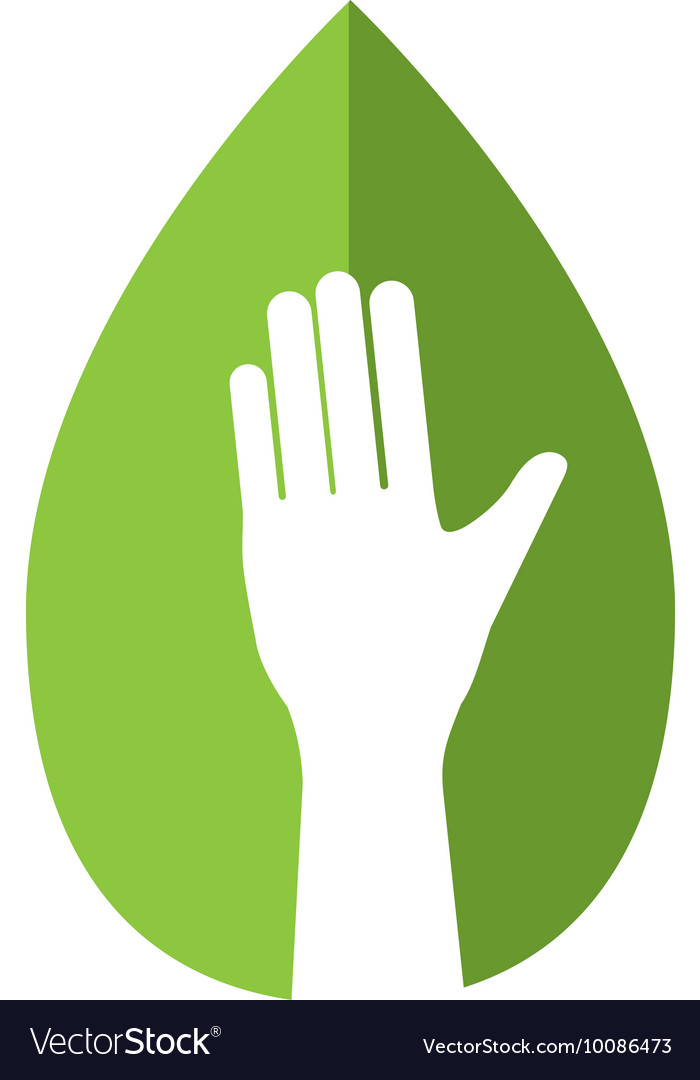 Hand human leaf help gesture fingers palm icon