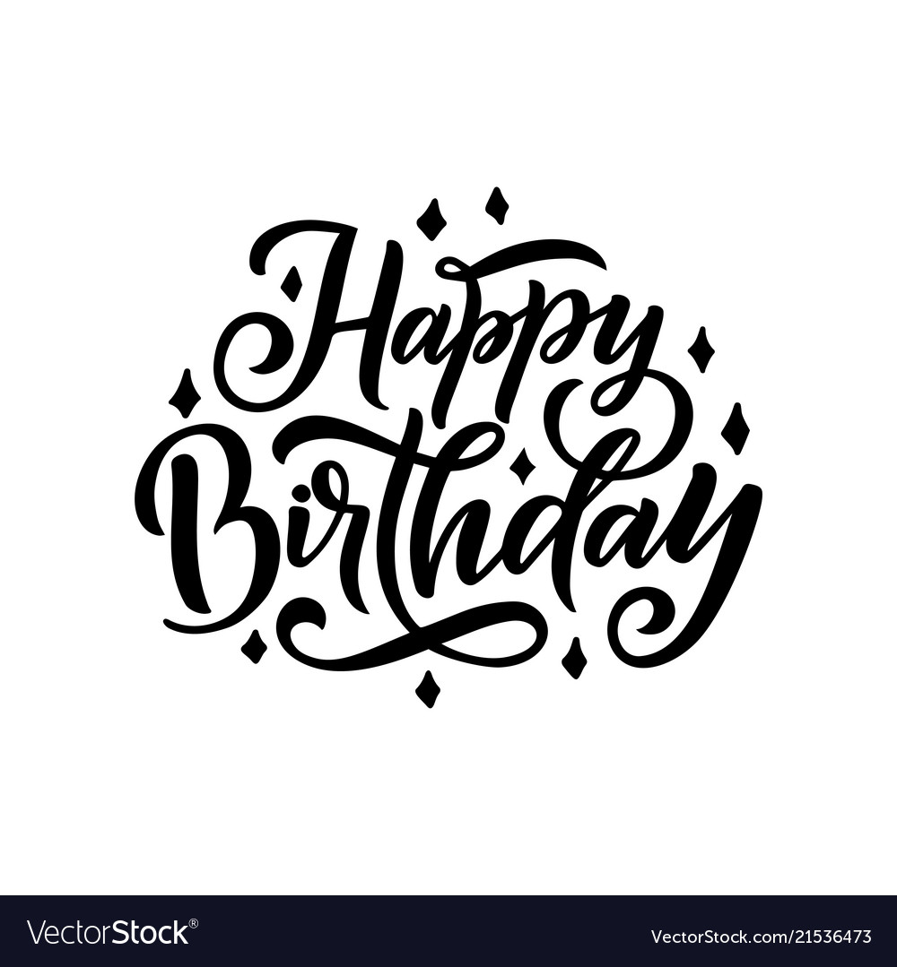 Happy Birthday Beautiful Greeting Lettering Vector Image
