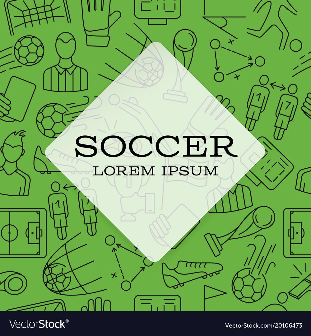 Modern design background soccer sign icon
