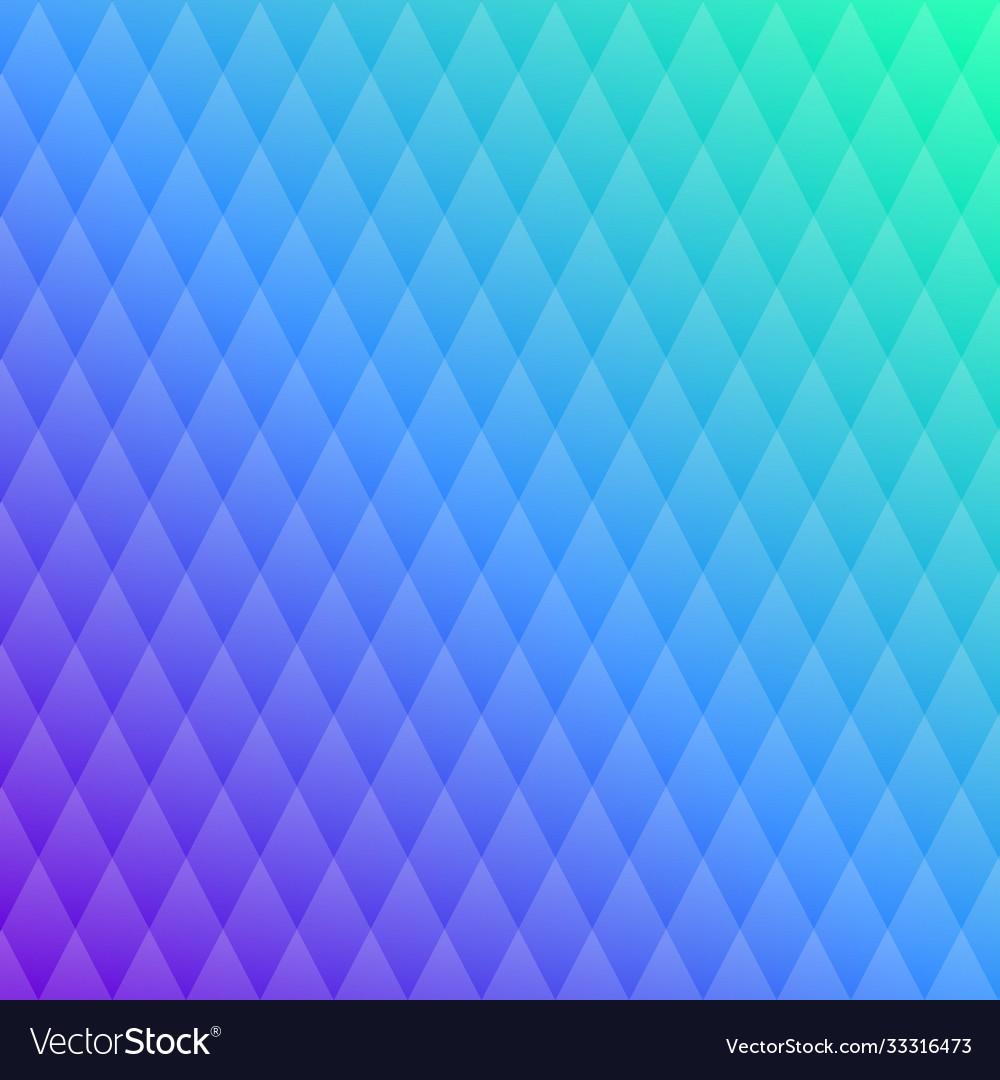 Pattern blue crystal transparent rhombuses
