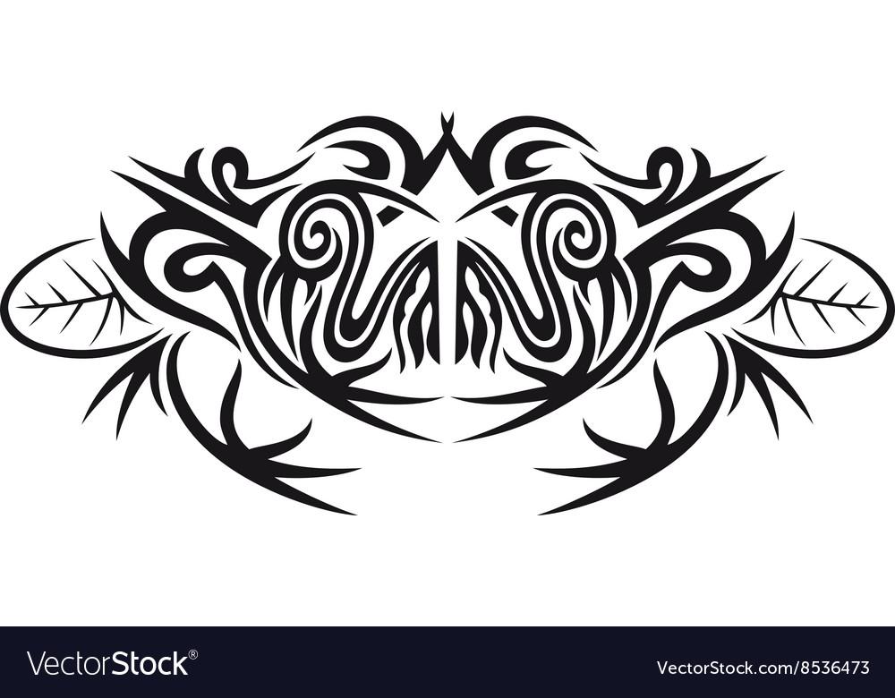 tribal frog royalty free vector image vectorstock rh vectorstock com Tribal Hummingbird Tribal Leopard