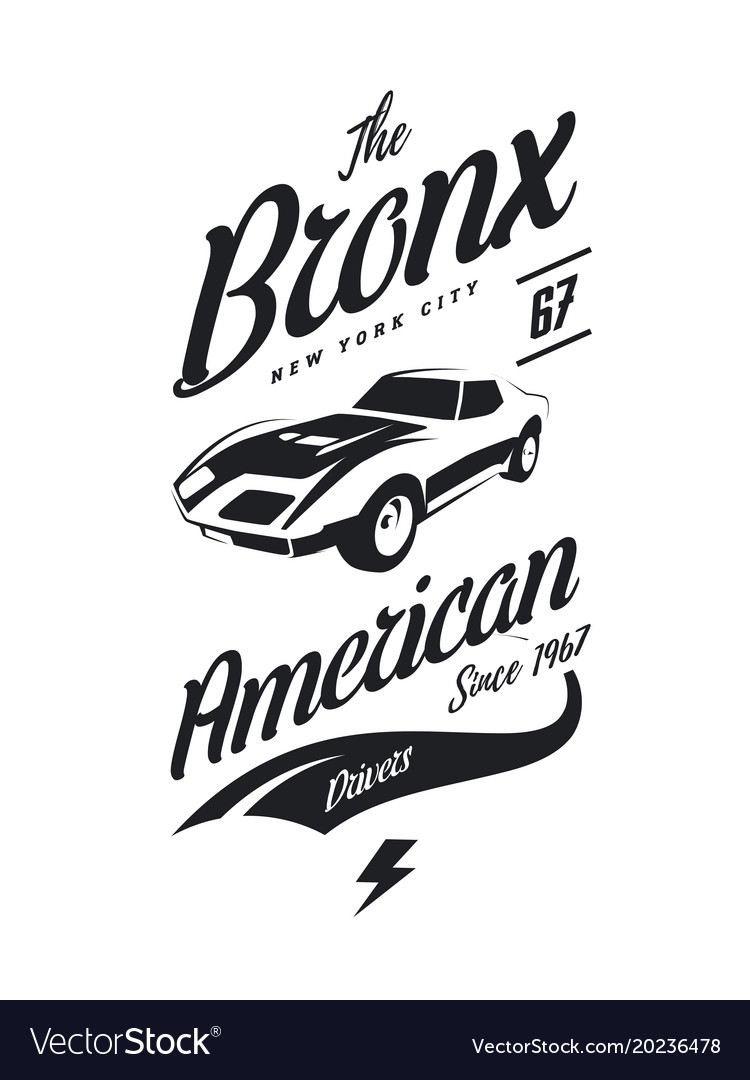 American muscle car tee-shirt logo