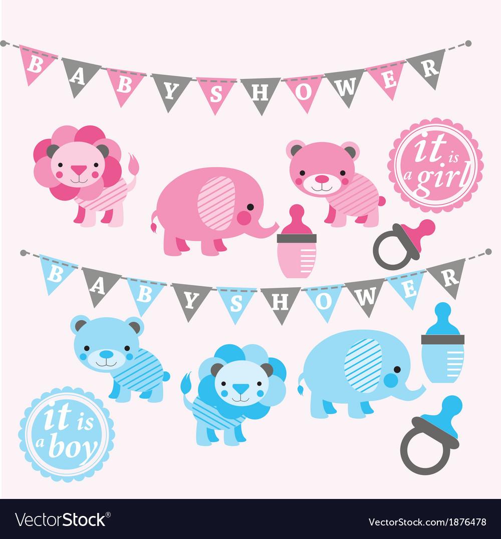 Baby shower kit vector image