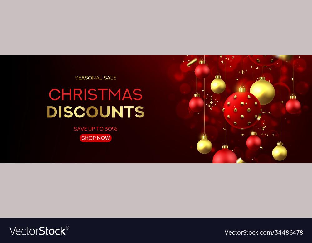 Christmas sale horizontal banner