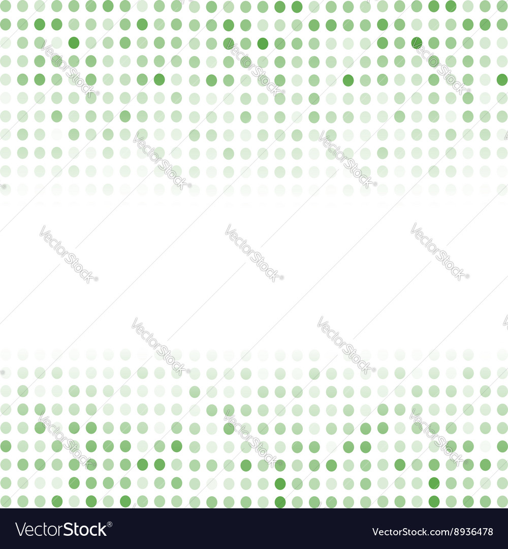 Dotted Green Background Halftone Pattern