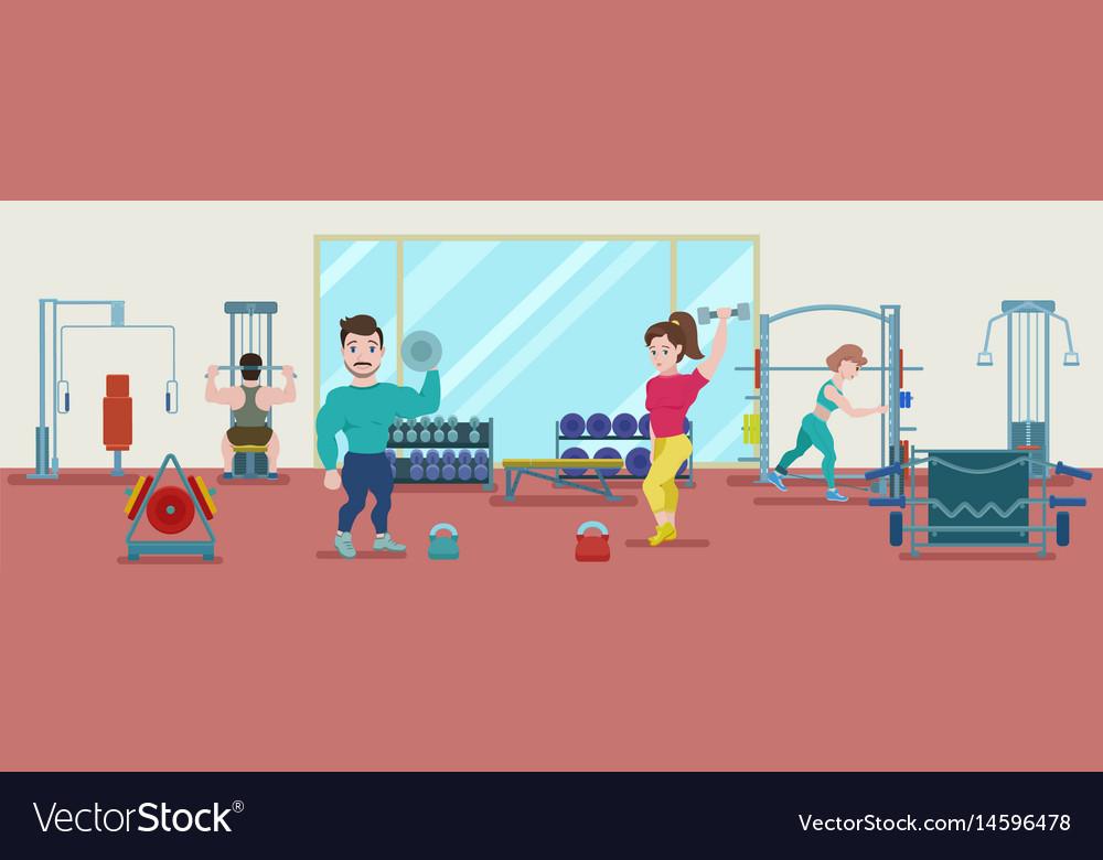 Flat fitness training concept