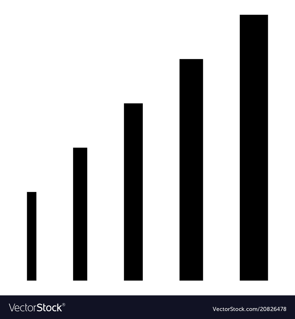 Growth chart icon black color flat style simple