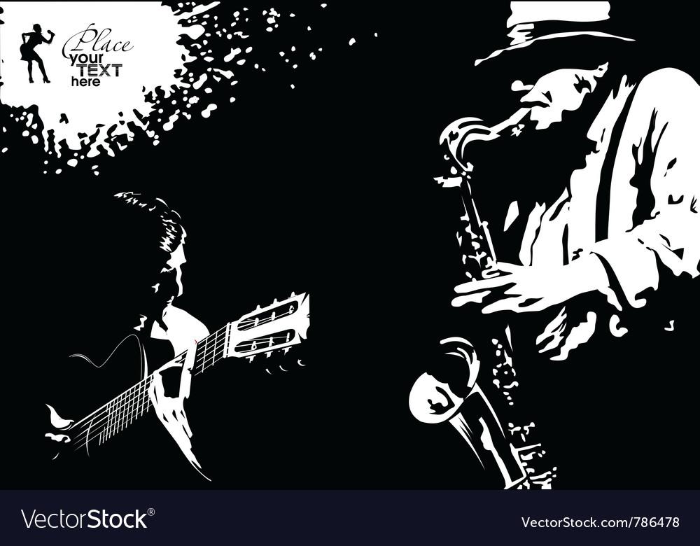 Musician grunge vector image