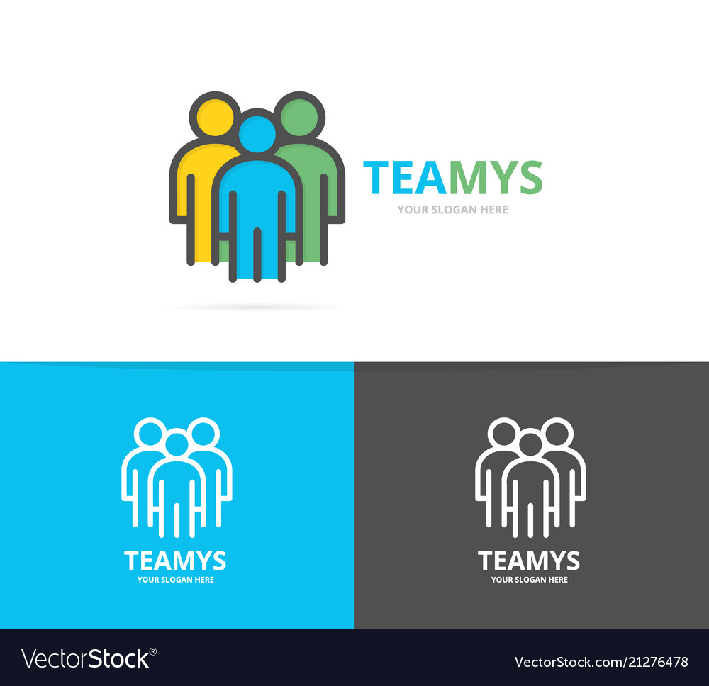 Simple teamwork group of three people human
