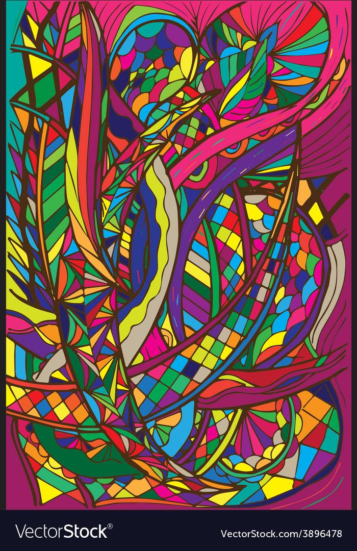 Spiral decorative doodles